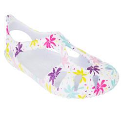 兒童款涼鞋S 100-棕櫚印花