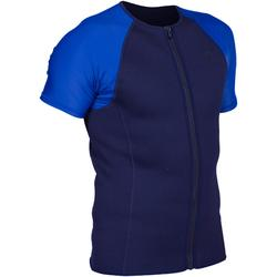 Top para snorkel hombre azul mangas azul claro