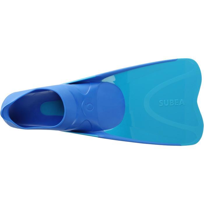 Palmes de snorkeling SNK 520 enfant bleu turquoise - 1093800