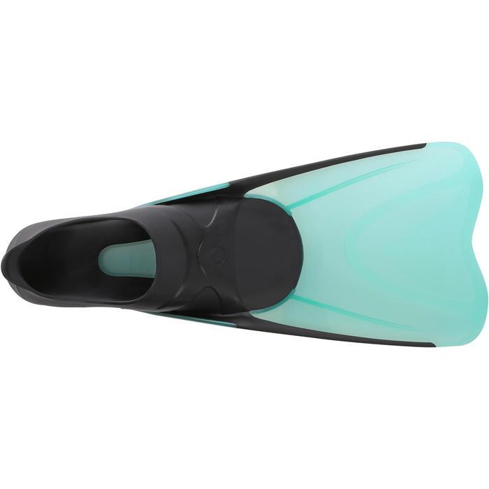 Snorkelvinnen voor volwassenen SNK 500 zwart/mintgroen