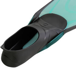 Easybreath Mask and Fins Snorkelling Set - Turquoise Blue Black