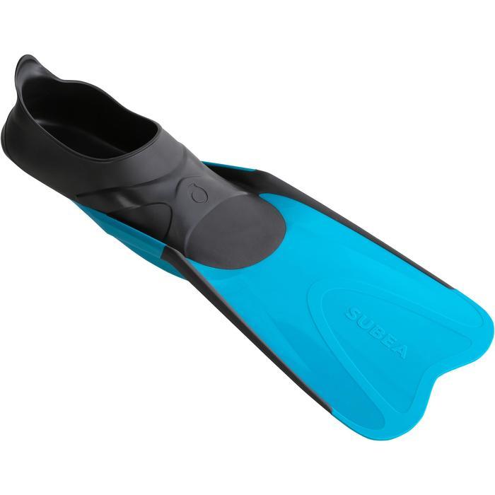 Aletas de snorkeling 520 adulto negro y azul turquesa