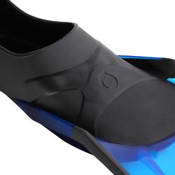 Set zwemvliezen duikbril snorkel voor vrijduiken PMT100 blauw zwart volwassenen