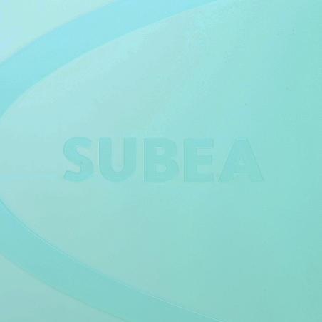 Palmes de plongée avec tuba SNK 520 adulte noires et vertes menthe