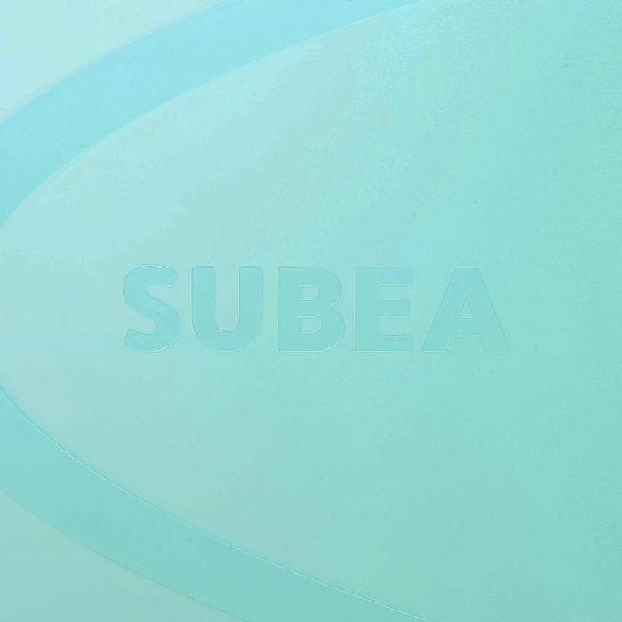 Aletas de snorkel SNK 520 adulto negro y verde menta