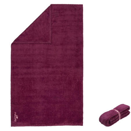 Soft microfibre towel size L 80 x 130 cm purple