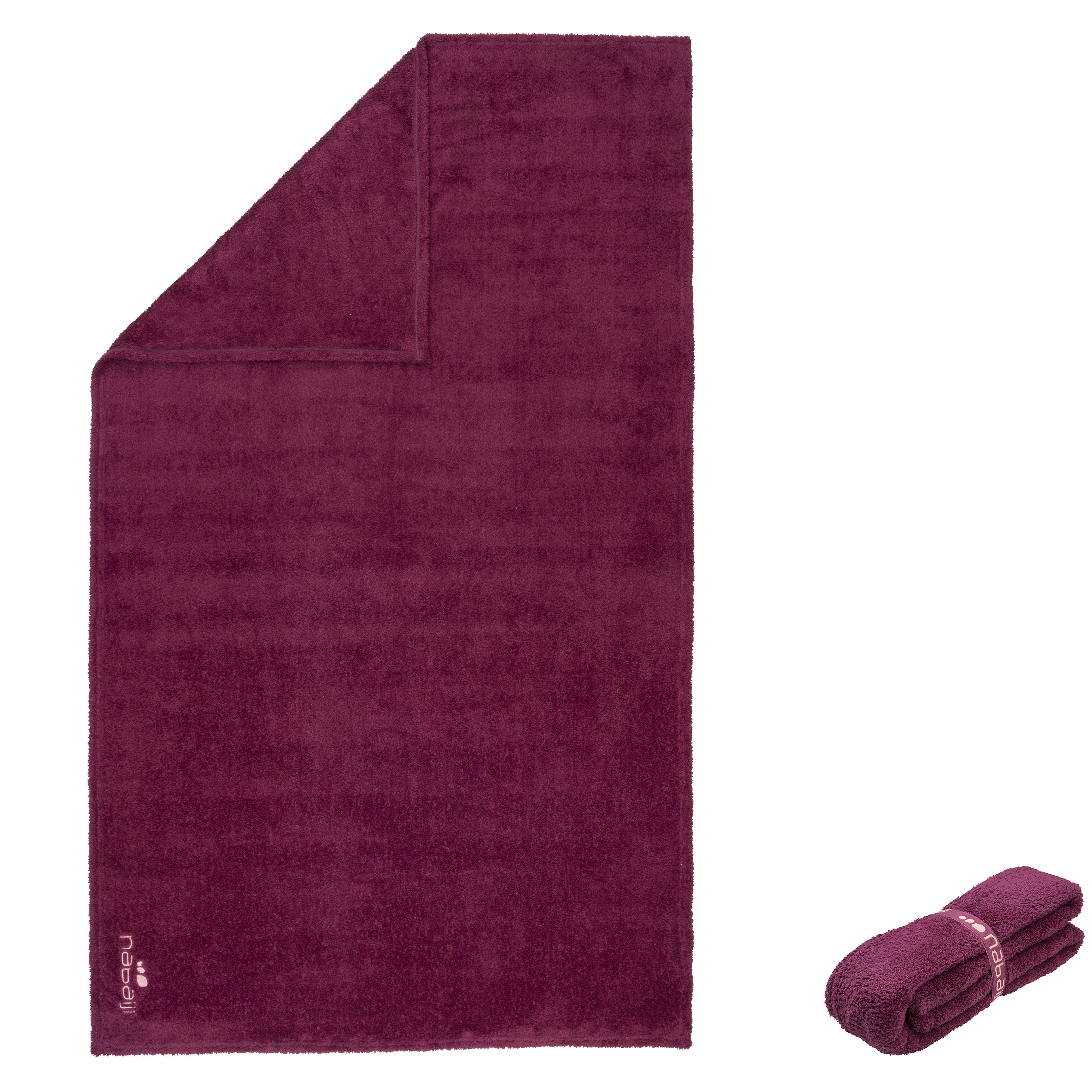 Ultra-Soft Microfibre Towel Size L 80 x 130 cm - Bordeaux