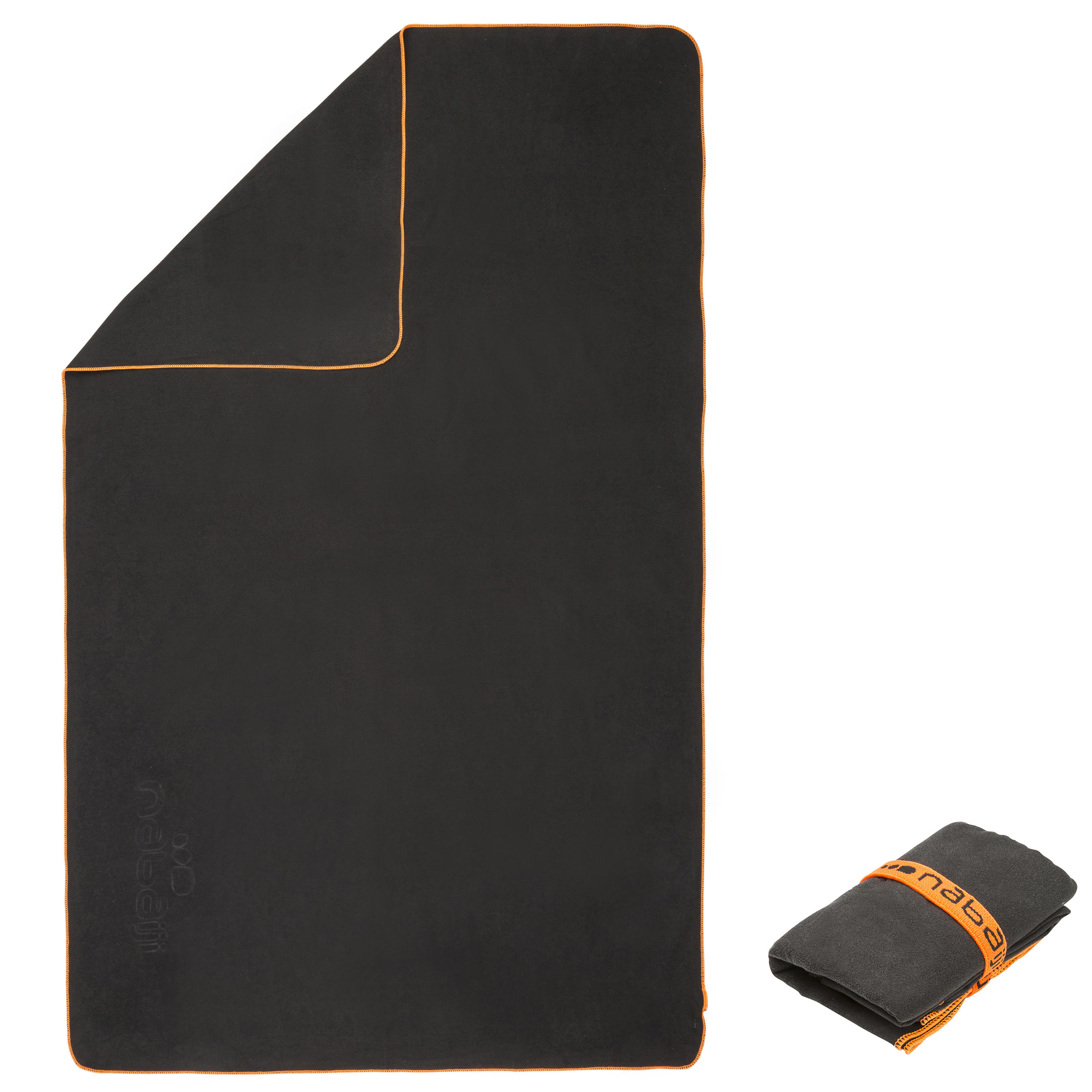 Ultra-Compact Microfibre Towel Size M 65 x 90 cm - Dark Grey