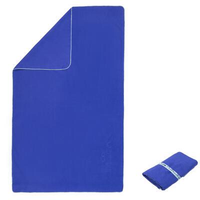 סנטימטרים - כחול80X130 Lמגבת מיקרופייבר קומפקטית מאוד בגודל