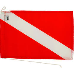Internationale duikvlag rood/wit afzonderlijke duiker