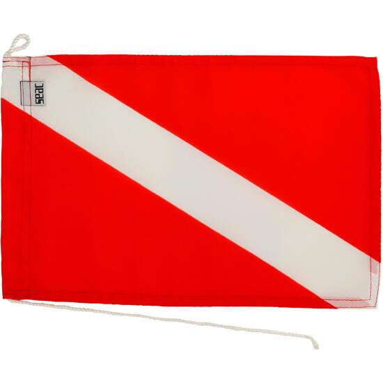 Internationale duikvlag rood/wit afzonderlijke duiker - 1093956