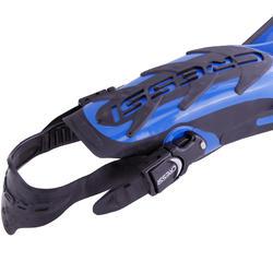 Zwemvliezen met open hiel Frog Plus blauw - 1094043
