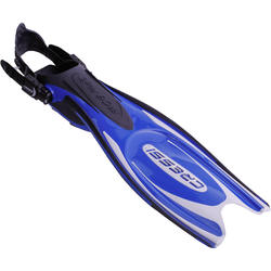 Zwemvliezen met open hiel Frog Plus blauw - 1094049
