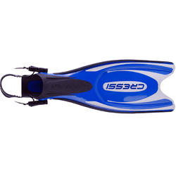 Zwemvliezen met open hiel Frog Plus blauw - 1094050