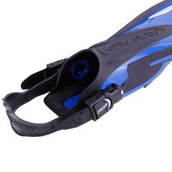 Zwemvliezen met open hiel Frog Plus blauw - 1094052