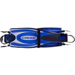Zwemvliezen met open hiel Frog Plus blauw - 1094053