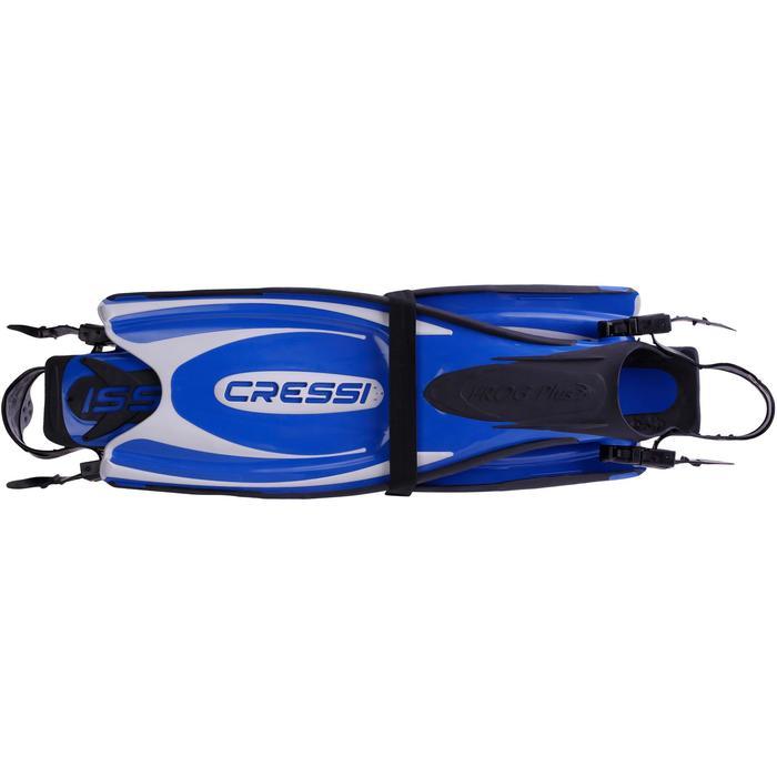 Zwemvliezen met open hiel Frog Plus blauw