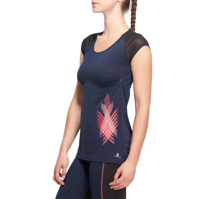 T-shirt galbant SHAPE+ fitness femme noir et violet - 1094133