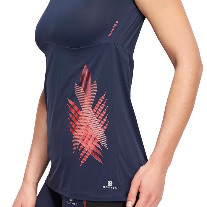 T-shirt galbant SHAPE+ fitness femme noir et violet - 1094135