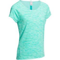 Camiseta yoga algodón biológico mujer azul