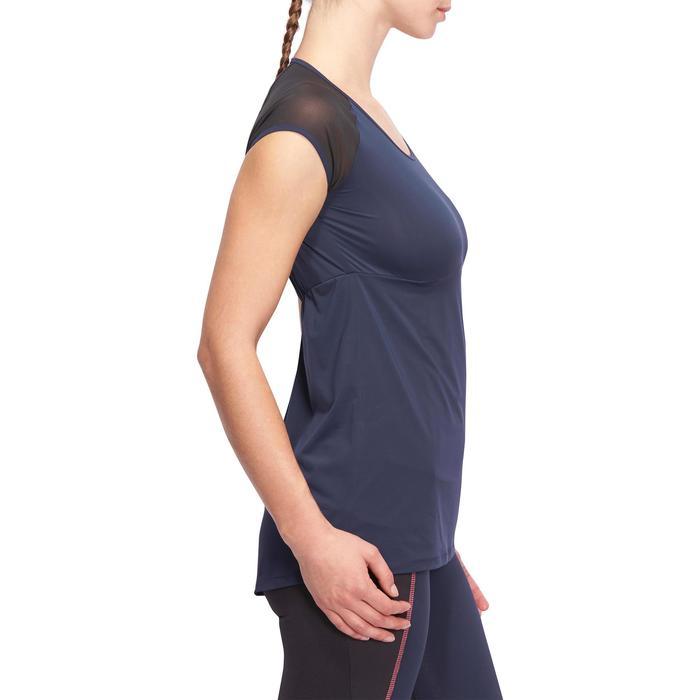 T-shirt galbant SHAPE+ fitness femme noir et violet - 1094156