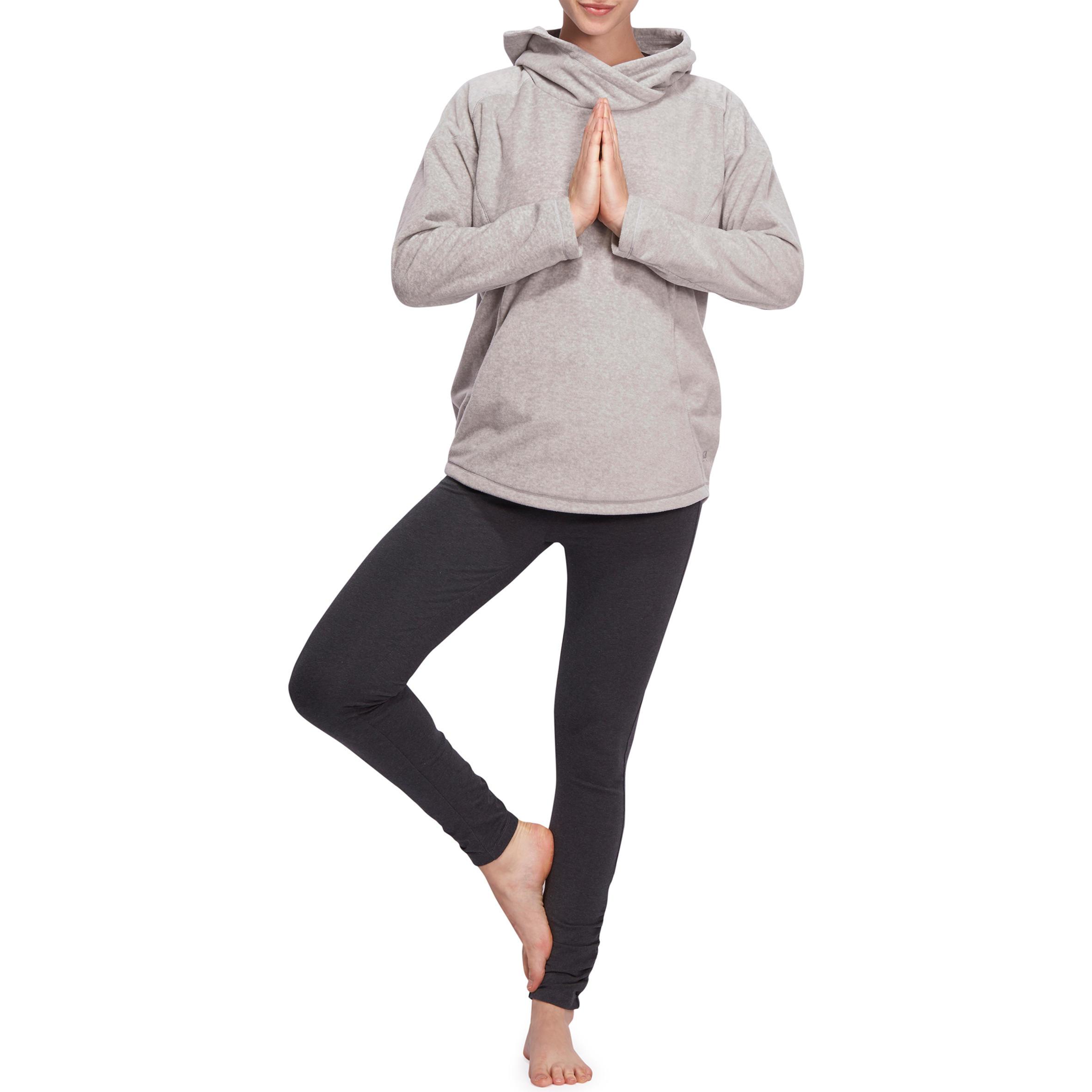 Boutique en ligne b51d4 fdcd6 Sudadera polar relajación yoga mujer gris