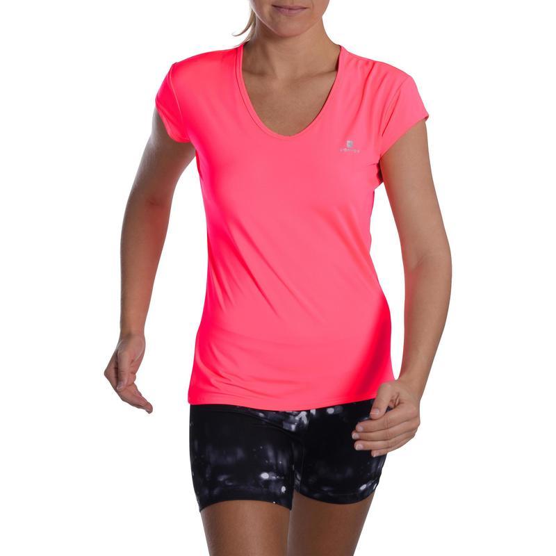 en venta eeb4f d00a5 Ropa de mujer - Camiseta manga corta Cardio Fitness Domyos FTS 100 mujer  rosa