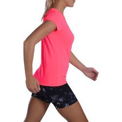 T-shirt fitness cardiotraining dames 100 fluoroze