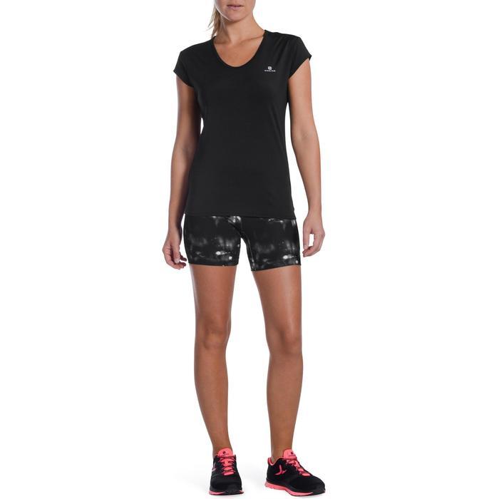 Camiseta cardio fitness mujer negro 100