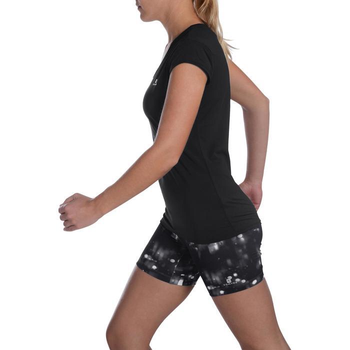 T-Shirt Fitness-/Cardiotraining 100 Damen schwarz
