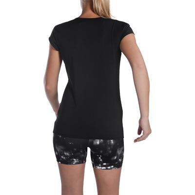 100 Women's Fitness Cardio Training T-Shirt - Black