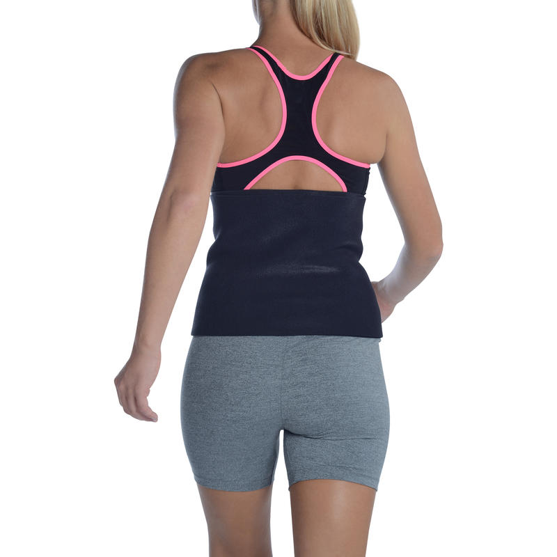 Cardio Fitness Sauna Belt - Size Fits All - Black
