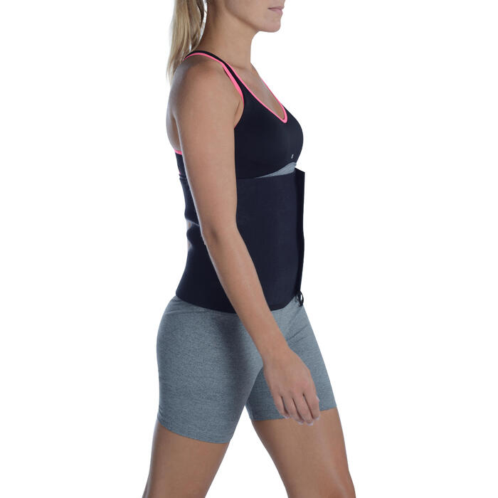 Ceinture de sudation fitness cardio noire - 1094738