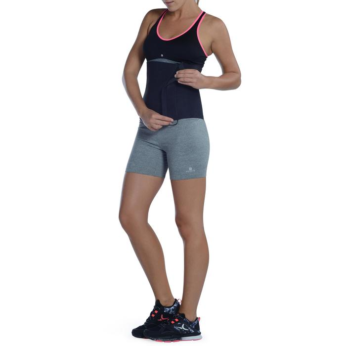Ceinture de sudation fitness cardio noire - 1094739
