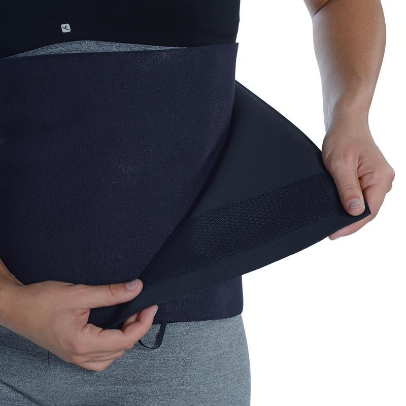 Cinturón de transpiración fitness cardio negro