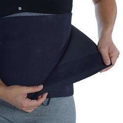 Cinturón lumbar Faja sauna Cardio Fitness Domyos sudación unisex negro
