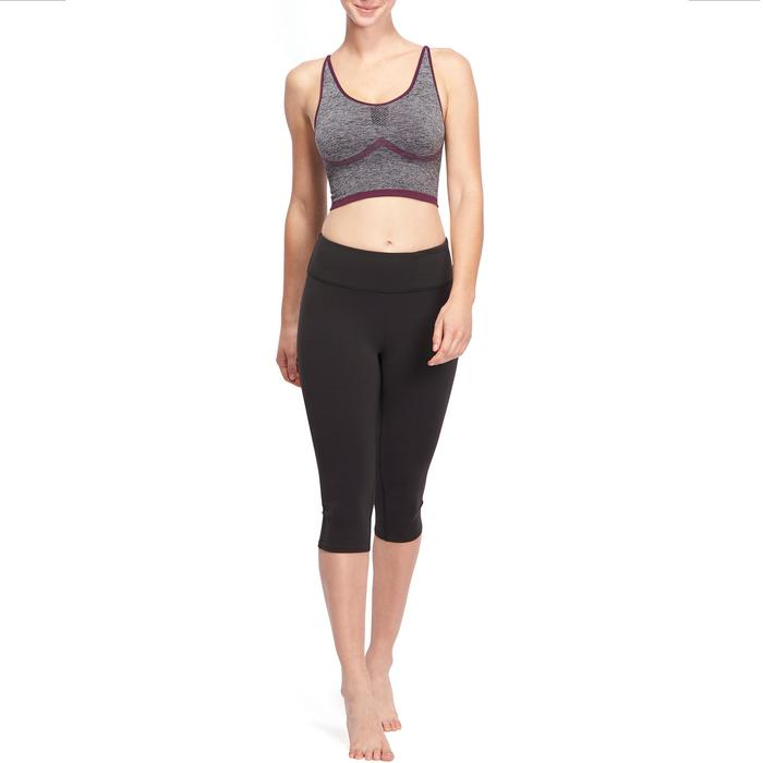 3/4-Leggings Yoga Dynamic Damen schwarz