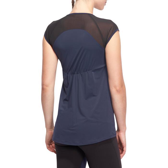 T-shirt galbant SHAPE+ fitness femme noir et violet - 1094806