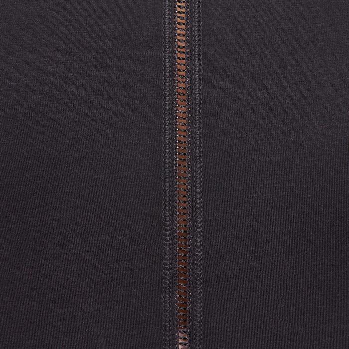 T shirt yoga doux femme en coton issu de l'agriculture biologique noir - 1094810