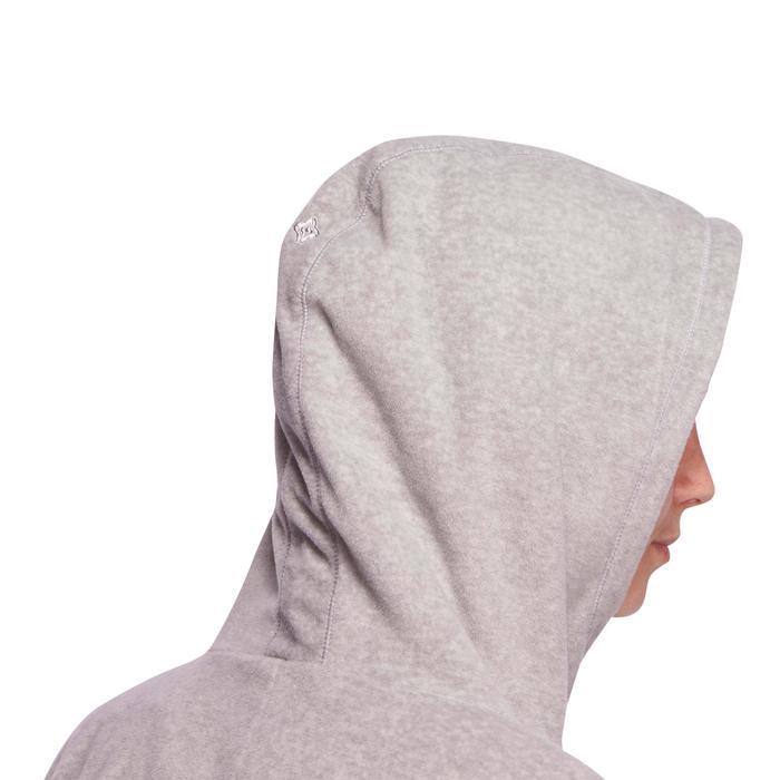 Sweatshirt Microfleece Entspannung Yoga Damen grau