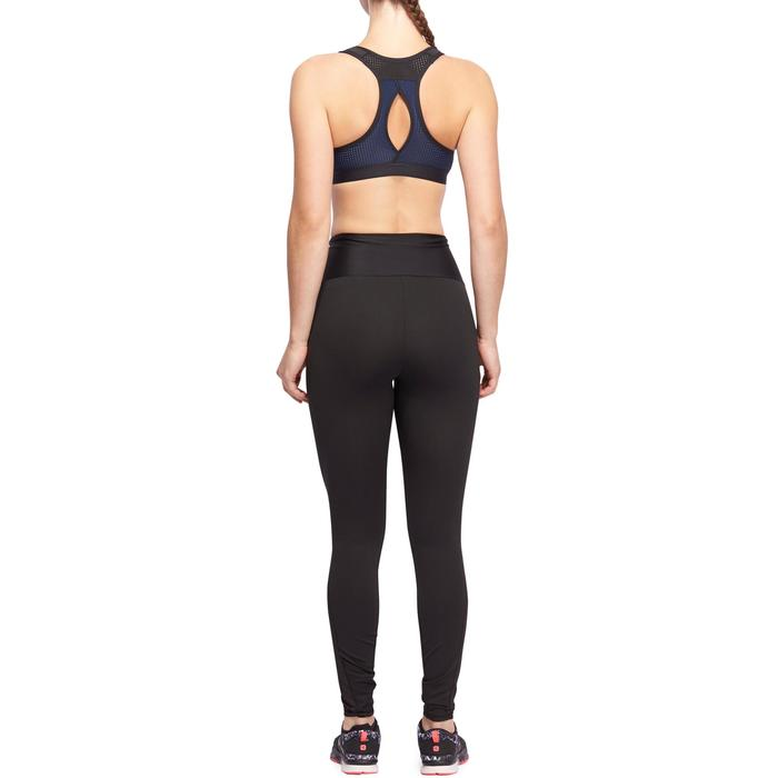 Sujetador-top power cardio fitness mujer negro 900