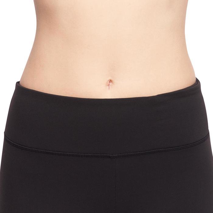 Dames kuitbroek voor dynamische yoga zwart