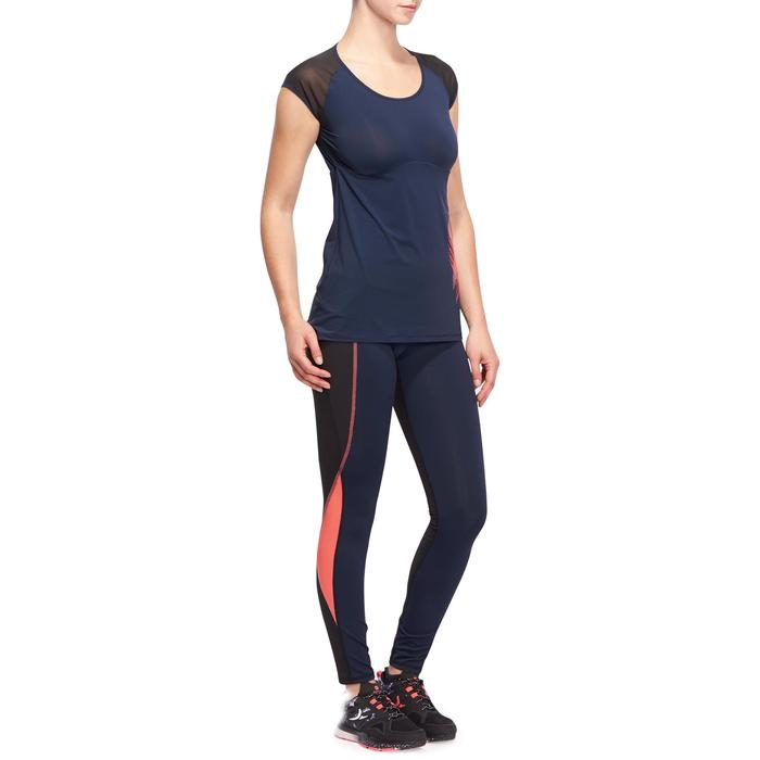 T-shirt galbant SHAPE+ fitness femme noir et violet - 1094886