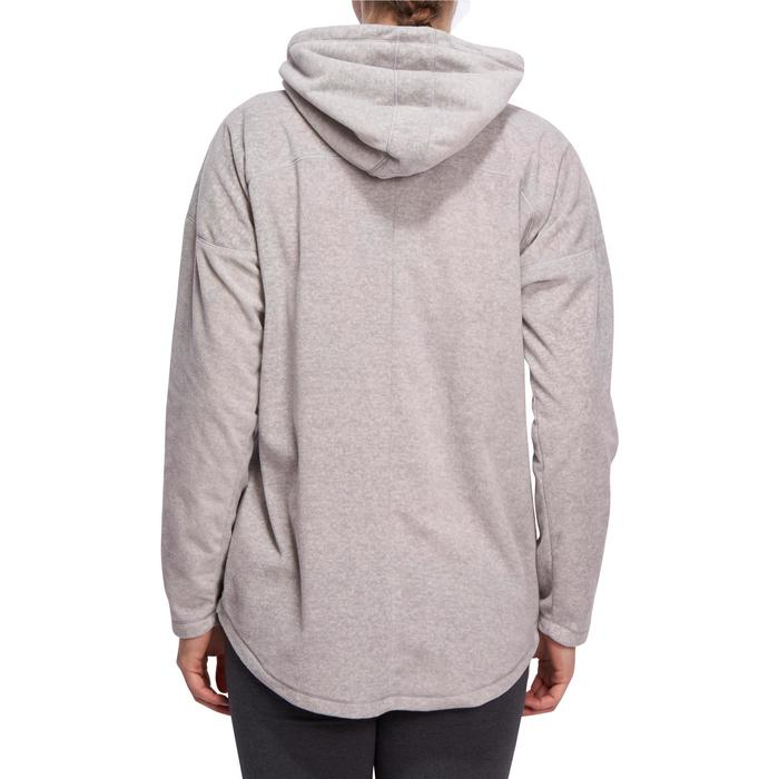 Sweat-shirt relaxation yoga micropolaire polaire femme gris