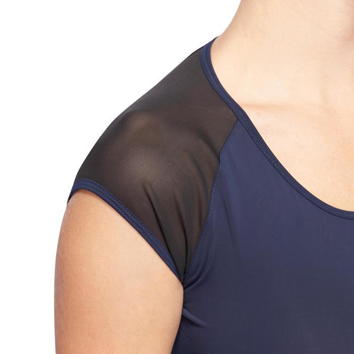 T-shirt galbant SHAPE+ fitness femme noir et violet - 1094977