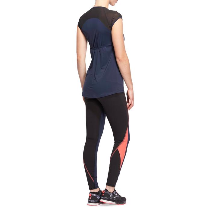 T-shirt galbant SHAPE+ fitness femme noir et violet - 1095074