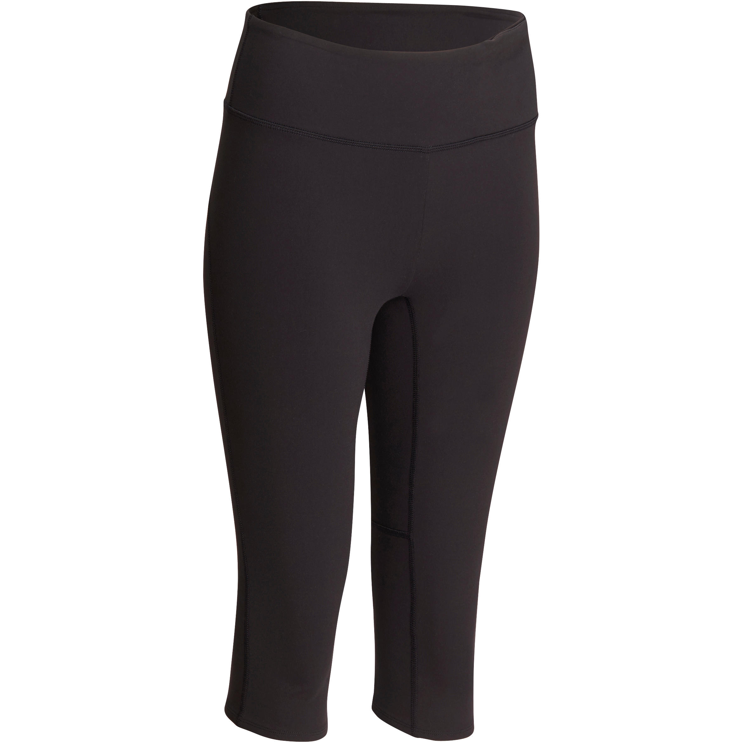 Women's Dynamic Yoga Cropped Bottoms - Black