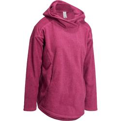 Damessweater voor relaxatie bij yoga microfleece fleece