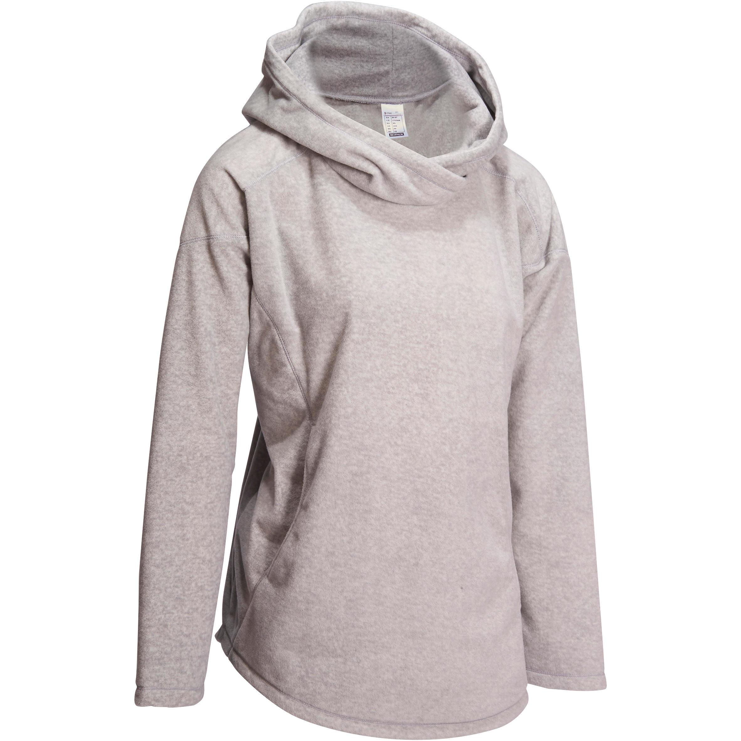 Domyos Fleece damessweater voor relaxatie bij yoga