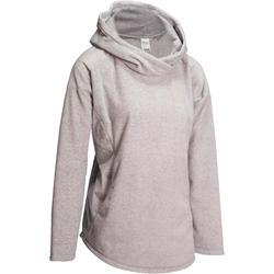 Fleece damessweater voor relaxatie bij yoga